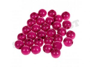 wooden beads 10mm dark pink