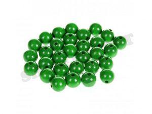 wooden beads 10mm green