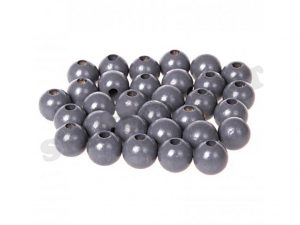 wooden beads 10mm grey