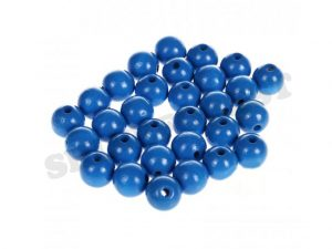 wooden beads 10mm medium blue