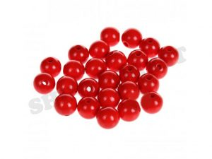wooden beads 10mm red