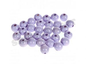 wooden 10 beads 12mm lilac