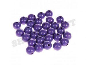 wooden beads 8mm blue purple