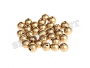 wooden beads 8mm gold