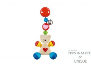 Pram Toy Clip Heart Bear