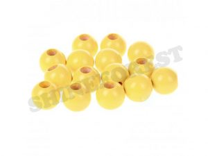 safety beads 12mm yellow